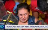 San Luis: mujer quedó atrapada por 1 hora en caja de Sedapal