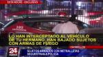 Chorrillos: sujetos armados con metralletas raptan a policía - Noticias de jesus mestas wing
