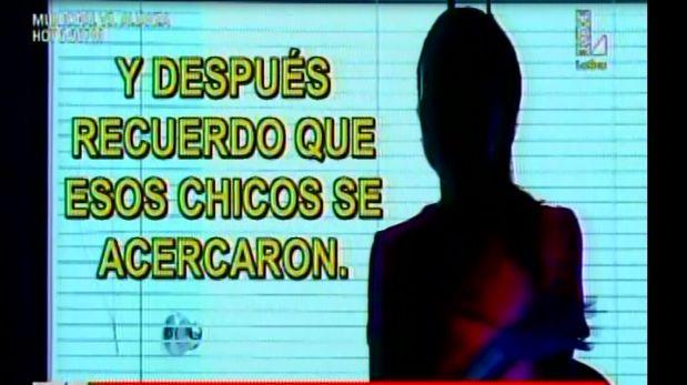 Joven víctima de violación se acogió a la protección de testigos. (Video: Latina)