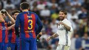 Sergio Ramos fue expulsado y arremetió contra Gerard Piqué