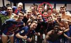 Facebook: Neymar también 'celebró' en camerino de Barcelona