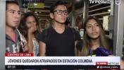 Metropolitano: jóvenes fueron abandonados a la espera de un bus
