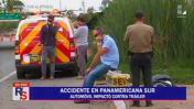 Chorrillos: conductor murió en choque en la Panamericana Sur