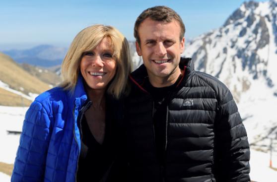 La historia de Macron y su esposa 23 años mayor que él