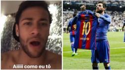 Neymar explotó de alegría luego del golazo de Messi [VIDEO]