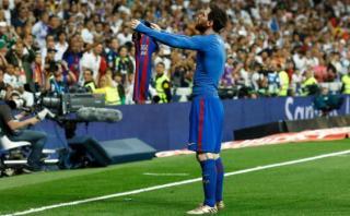 Messi y la explicación de su eufórico festejo en el Bernabéu