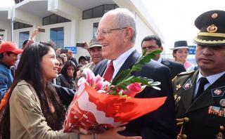 PPK se pronunció sobre la situación de Alberto Fujimori desde Ayacucho. (Prensa Presidencia / Canal N)