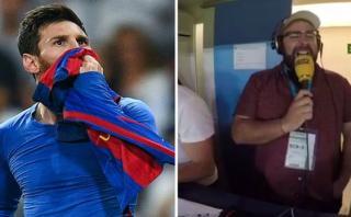 La eufórica narración catalana del golazo de Messi [VIDEO]