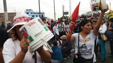 Carapongo: marchan por falta de agua potable desde hace 20 años