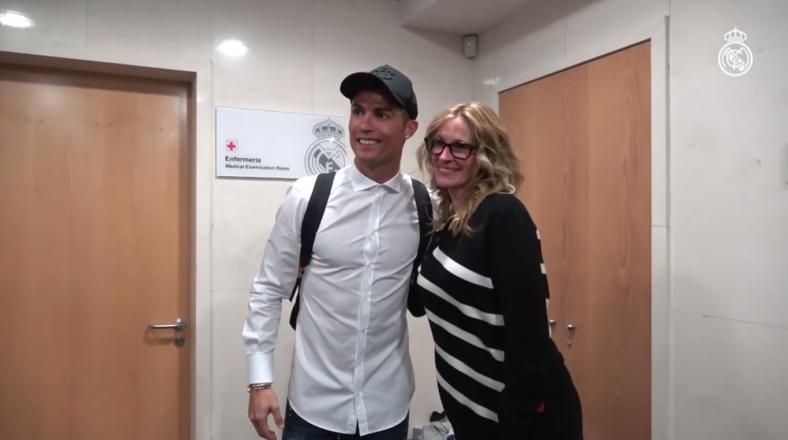 Facebook: Cristiano conoció a Julia Roberts en el Bernabéu
