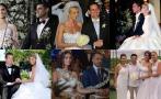 Las bodas más mediáticas de la farándula local [FOTOS]