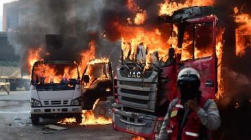 Jornada de protesta en Venezuela deja tres muertos