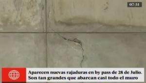 By-pass de 28 de Julio: Lima responde por nuevas rajaduras