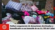 Hallan donaciones para afectados por huaicos en casa del Callao