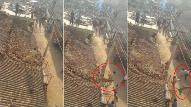 El dramático ataque de un leopardo a un hombre en la India