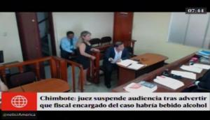 Juez suspende audiencia porque fiscal llegó oliendo a alcohol