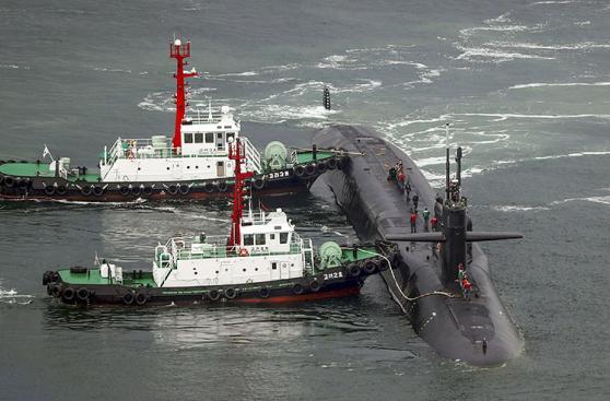 El submarino nuclear de EE.UU. que ya está en el mar coreano