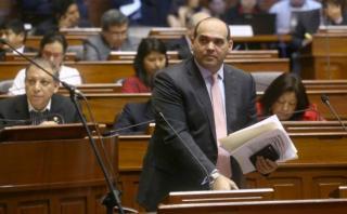 Fernando Zavala, titular de la PCM, se presentó también hoy en el Congreso antes de la aprobación del proyecto que crea la Autoridad para la Reconstrucción con Cambios . (Foto: PCM)
