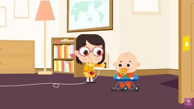 Niños que interrumpieron a su padre durante entrevista tienen una serie animada