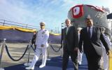 PPK estuvo acompañado por el ministro de Defensa, Jorge Nieto; el comandante general de la Marina de Guerra, Gonzalo Ríos. (Foto: Presidencia Perú/Flickr)