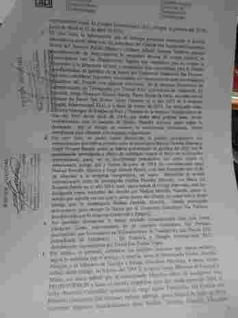 Documento del Juzgado sobre levantamiento de comunicaciones a Nadine Heredia (Foto:El Comercio)