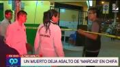Sicarios acribillan a padre e hijo en San Juan de Lurigancho