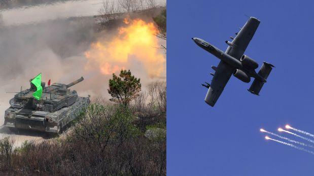 Estados Unidos y Corea del Sur realizan su más grande maniobra militar conjunta. (Foto: AFP)