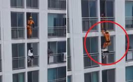 Bombero salva a joven suicida con arriesgada maniobra [VIDEO]