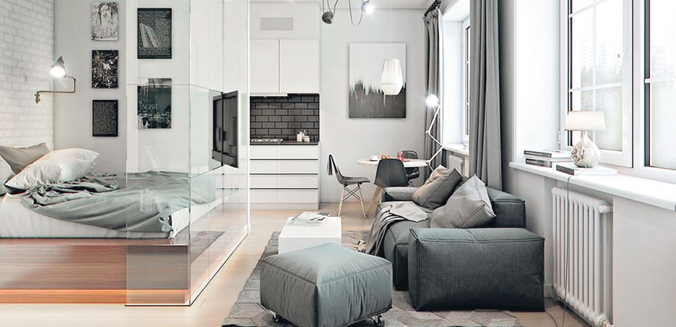 Departamento muestra lo genial de vivir en 32 m2