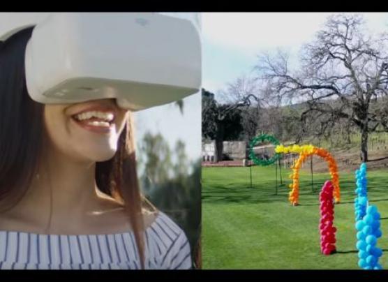 El visor con el que puedes experimentar el recorrido de un dron