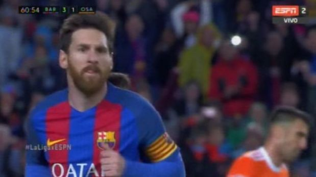 Lionel Messi imparable: curva precisa para marcar golazo. (Video: ESPN)