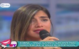 Korina Rivadeneira se quiebra y llora en plena entrevista