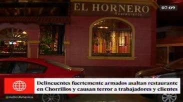 Chorrillos: delincuentes asaltaron restaurante El Hornero