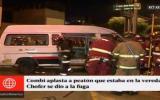 Lince: un muerto y seis heridos por combi que invadió la vereda