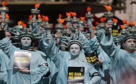 Marcharon contra Donald Trump tras sus 100 primeros días