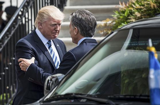 Donald Trump y Mauricio Macri, juntos en la Casa Blanca