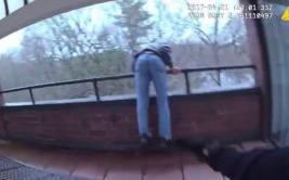 Impresionante salto de un policía evitó un suicidio [VIDEO]