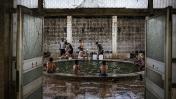 Un spa cerca a Mosul es usado por soldados iraquíes