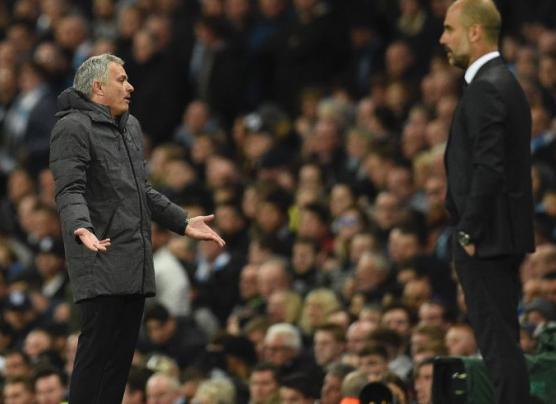 Guardiola vs. Mourinho: el otro duelo del derbi de Manchester