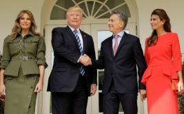 """Trump: """"Mauricio Macri es una gran persona y un gran líder"""""""