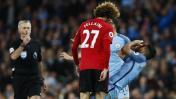 Mourinho opinó sobre roja a Fellaini tras cabezazo a Agüero