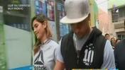 Korina y Mario llegan a municipio de Huaral en medio de revuelo