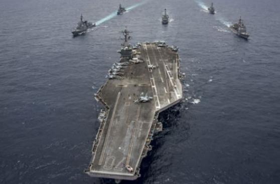 El portaaviones nuclear de EE.UU. avanza hacia Corea del Norte