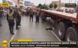 Callao: niño de 3 años murió atropellado por tráiler