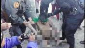 Arequipa: PNP rescata a presunto ladrón que era linchado