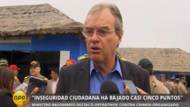 Respecto al informe del colectivo Lima como vamos en el que se advierte que solo un 10,2% de las personas se siente segura en Lima, Carlos Basombrío remarcó que la lucha contra la delincuencia es constante y puso como ejemplo la actual situación del Callao. (RPP TV)