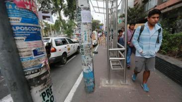 Las deficiencias que presentan los paraderos en la Av. Arequipa