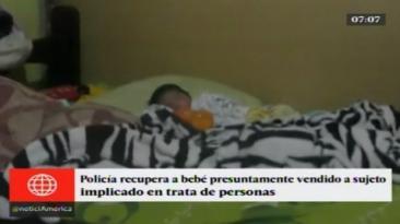 PNP detuvo a mujer que compró a recién nacido por 350 soles