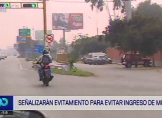 Prohibirán circulación de motos en la Vía de Evitamiento