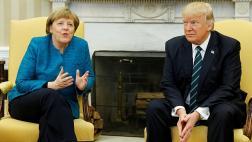 """Merkel: """"Trump y yo tenemos una buena relación de trabajo"""""""